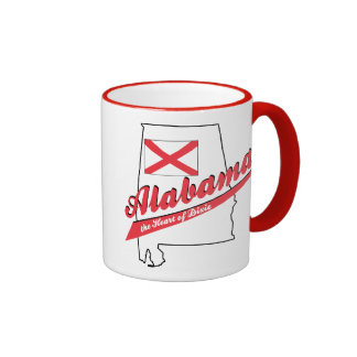 Alabama Heart of Dixie Mugs