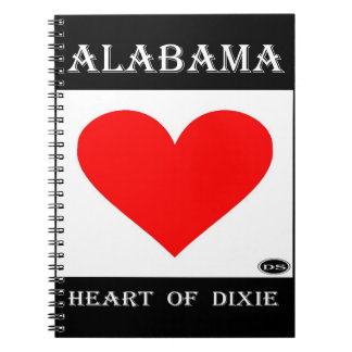 Alabama Heart of Dixie Notebooks