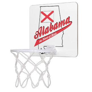 Alabama Heart of Dixie Mini Basketball Hoops