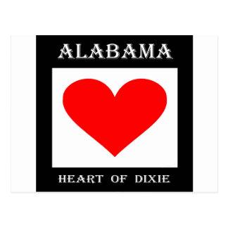 Alabama Heart of Dixie Postcard