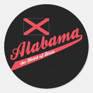 Alabama Heart of Dixie Round Sticker