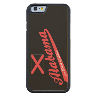 Alabama Heart of Dixie Saying Carved® Maple iPhone 6 Bumper Case