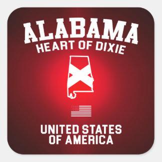 Alabama Heart of Dixie Square Sticker