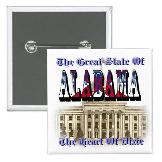 Alabama Heart Of Dixie State Capital Button