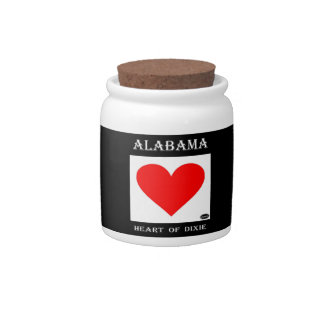 Alabama Heart of Dixie Candy Dishes