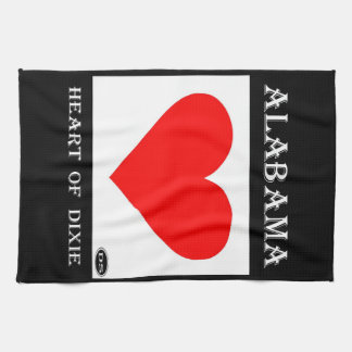 Alabama Heart of Dixie Towels