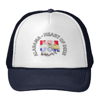Alabama Heart of Dixie USA Hat