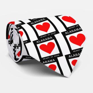 Alabama Heart of Dixie (White) Tie