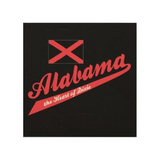 Alabama Heart of Dixie Wood Print