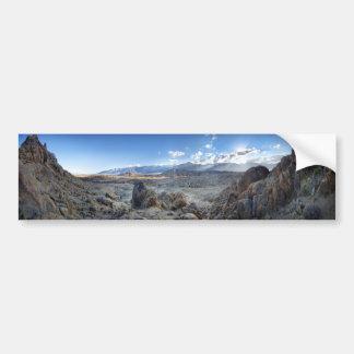 Alabama Hills Panorama - Owens Valley - Sierra Bumper Sticker