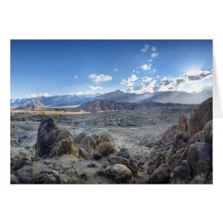 Alabama Hills Panorama - Owens Valley - Sierra Card