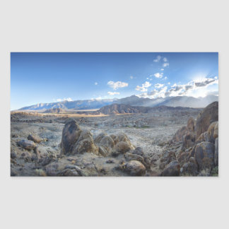 Alabama Hills Panorama - Owens Valley - Sierra Rectangular Sticker