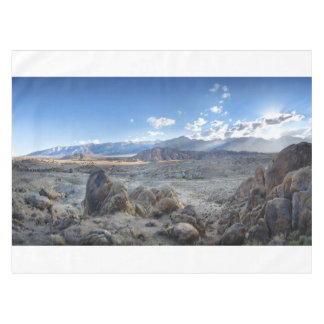Alabama Hills Panorama - Owens Valley - Sierra Tablecloth