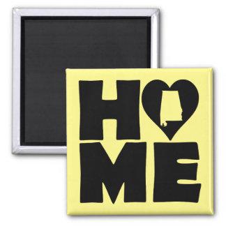 Alabama Home Heart State Fridge Magnet