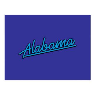 Alabama in cyan post cards