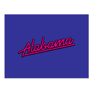 Alabama in magenta post card