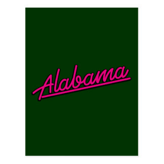 Alabama in magenta post cards