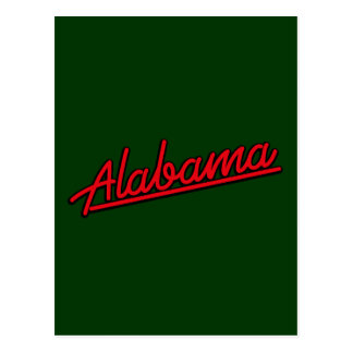 Alabama in red post card