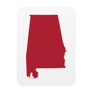 Alabama in Red Vinyl Magnet
