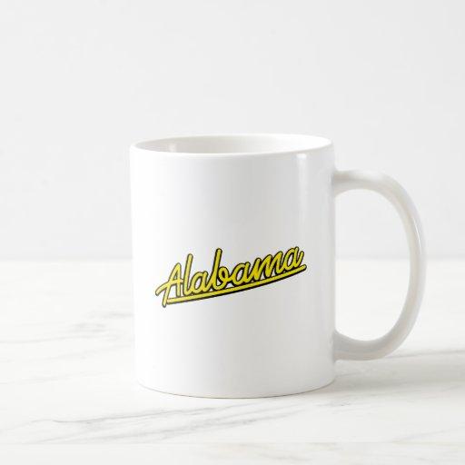 Alabama in yellow coffee mug