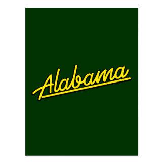 Alabama in yellow post card