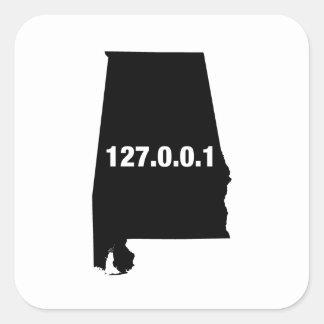 Alabama Is Home Programmer Square Sticker