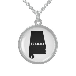 Alabama Is Home Programmer Sterling Silver Necklace