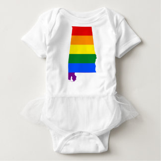 Alabama LGBT Flag Baby Bodysuit