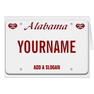 Alabama License Plate (personalized) Card