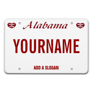 Alabama License Plate (personalized) Rectangular Photo Magnet