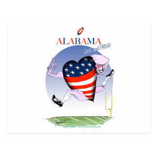 alabama loud and proud, tony fernandes postcard