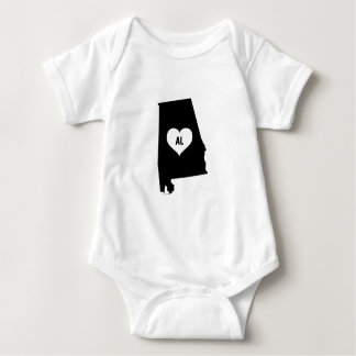 Alabama Love Baby Bodysuit