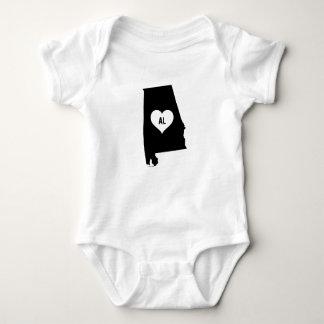 Alabama Love Baby Bodysuit