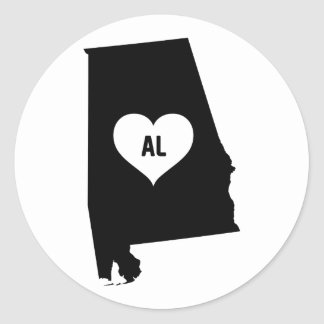 Alabama Love Classic Round Sticker
