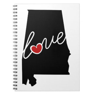 Alabama Love!  Gifts for AL Lovers Spiral Notebooks