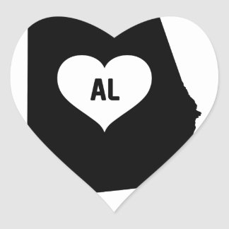 Alabama Love Heart Sticker