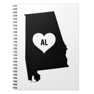 Alabama Love Notebook