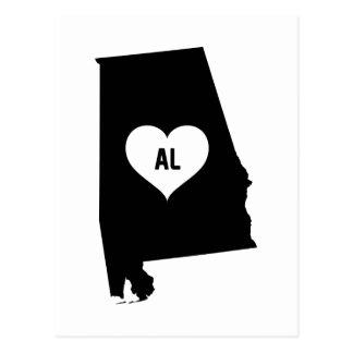 Alabama Love Postcard