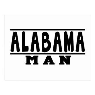 Alabama Man Designs Postcard