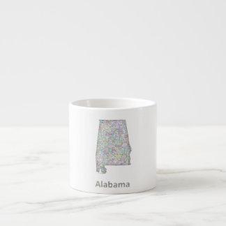 Alabama map espresso mug