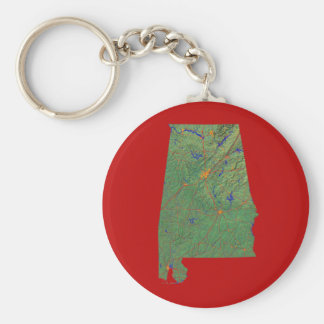 Alabama Map Keychain