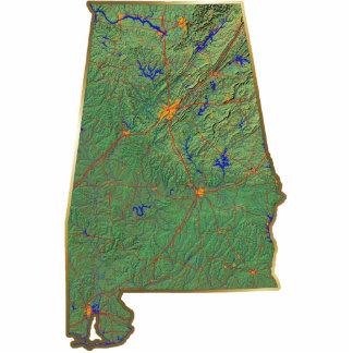 Alabama Map Keychain Cut Out