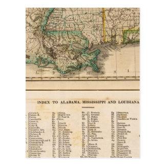 Alabama, Mississippi, Louisiana Postcard