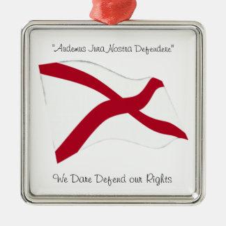 Alabama motto metal ornament
