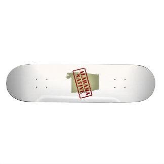 Alabama Native Stamped on Map Skateboard Decks
