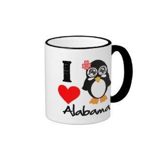 Alabama Penguin - I Love Alabama Coffee Mug