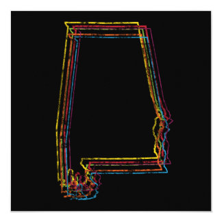 alabama pride blur 13 cm x 13 cm square invitation card