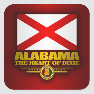 Alabama Pride Square Sticker
