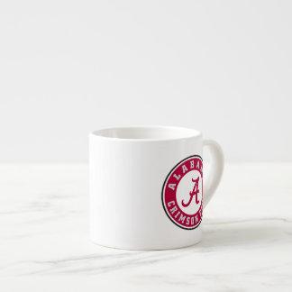 Alabama Primary Mark - Red 6 Oz Ceramic Espresso Cup