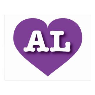 Alabama purple heart - Big Love Postcard